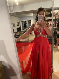 Mac Duggal Red Size 0 Pageant Straight Dress on Queenly