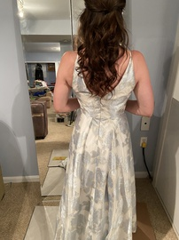 Calvin Klein Blue Size 2 Floral Ball gown on Queenly