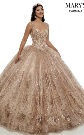 Queenly size 2 Marys Gold Ball gown evening gown/formal dress