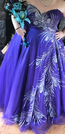 Queenly size 20  Purple Ball gown evening gown/formal dress