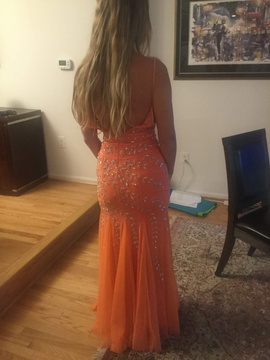 Sean Collection Orange Size 2 Prom Straight Dress on Queenly