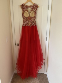 Tony Bowls Red Size 2 Tulle Train Dress on Queenly
