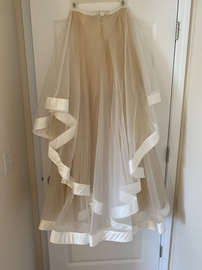 Terani Couture Nude Size 4 Ruffles Jewelled Ball gown on Queenly