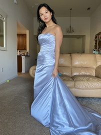 Queenly size 4  Silver Train evening gown/formal dress