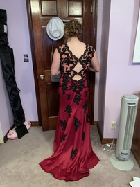 Red Size 14 Train Dress on Queenly