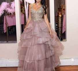 Queenly size 0 Camille La Vie Gold Ball gown evening gown/formal dress