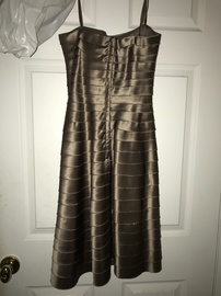 BCBG Max Azria Nude Size 0 Sorority Formal Wedding Guest Cocktail Dress on Queenly