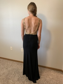 Mac Duggal Black Size 8 Jewelled Halter Backless Pageant Side slit Dress on Queenly