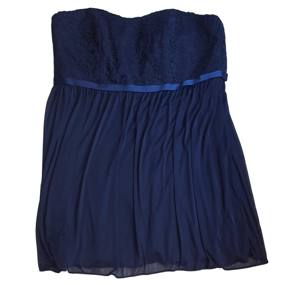 David's Bridal Blue Size 20 Homecoming Mini Cocktail Dress on Queenly
