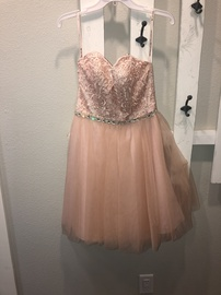 Queenly size 6 Mori Lee Pink Cocktail evening gown/formal dress