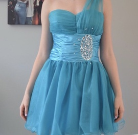 PromGirl Blue Size 2 Cocktail Dress on Queenly