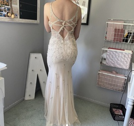 Nude Size 0 Side slit Dress on Queenly