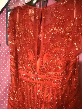 Sherri Hill Red Size 18 Cap Sleeve Sleeves Pageant Mermaid Dress on Queenly