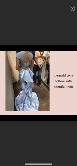 Sherri Hill Blue Size 00 Silk Homecoming Cap Sleeve Mermaid Dress on Queenly
