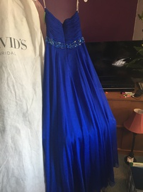 Sherri Hill Royal Blue Size 8 Strapless Ball gown on Queenly