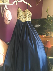Queenly size 10 Betsy & Adam Blue Ball gown evening gown/formal dress