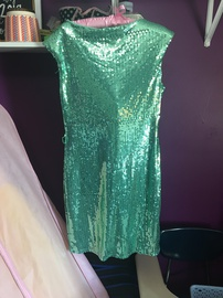 Lulu's Green Size 6 Homecoming Cocktail Dress on Queenly