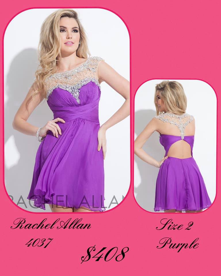 Queenly size 2 Rachel Allan Purple Cocktail evening gown/formal dress