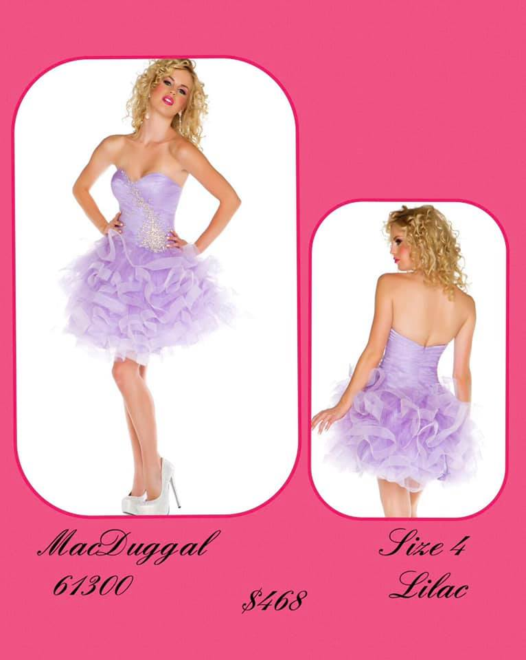 Queenly size 4 Mac Duggal Purple Cocktail evening gown/formal dress