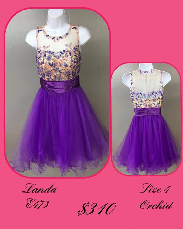 Queenly size 4 Landa Purple Cocktail evening gown/formal dress