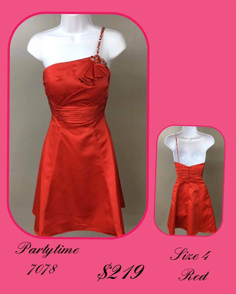 Queenly size 4 Party Time Formals Red Cocktail evening gown/formal dress
