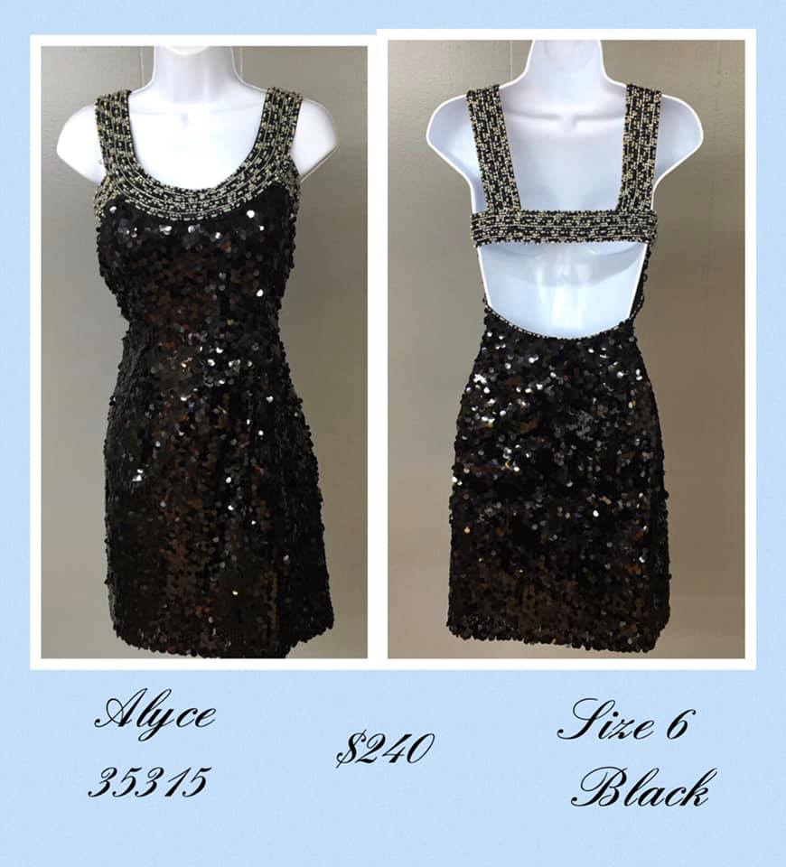 Queenly size 6 Alyce Paris Black Cocktail evening gown/formal dress