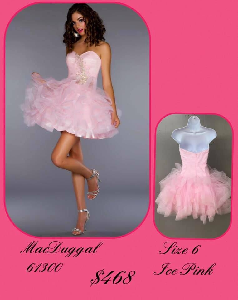 Queenly size 6 Mac Duggal Pink Cocktail evening gown/formal dress