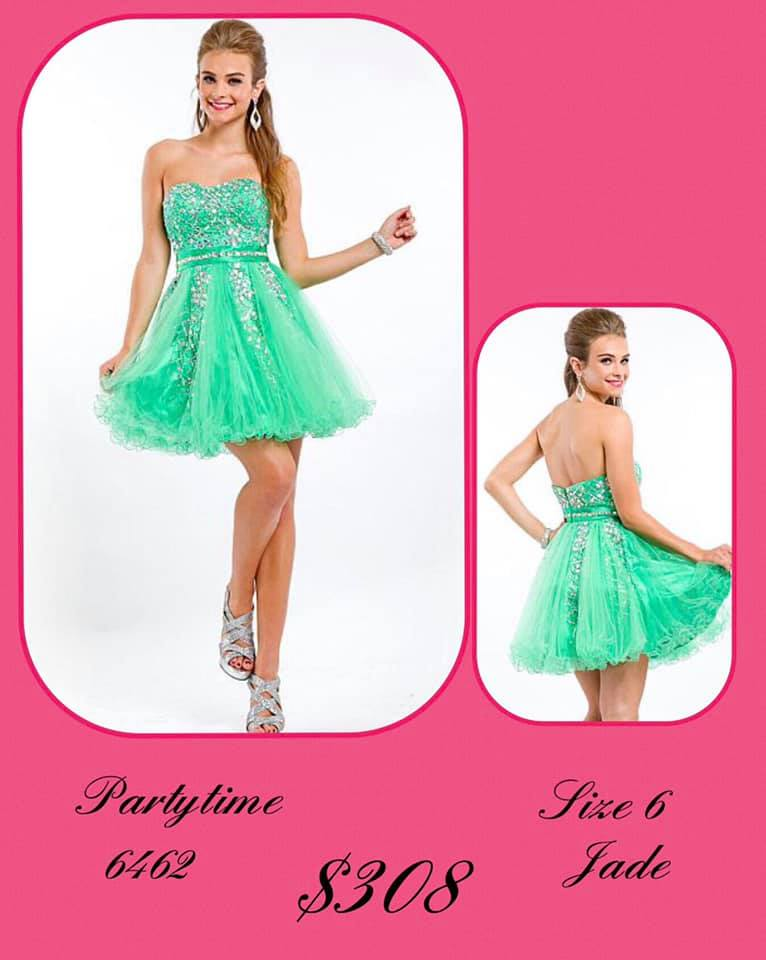 Queenly size 6 Party Time Formals Green Cocktail evening gown/formal dress