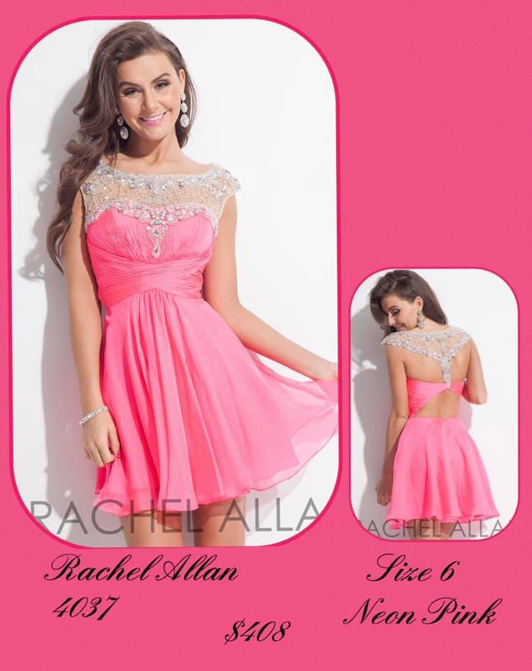 Queenly size 6 Rachel Allan Pink Cocktail evening gown/formal dress