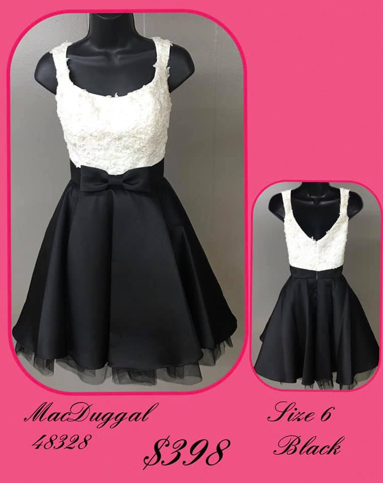 Mac Duggal Black Size 6 Tall Height Cocktail Dress on Queenly