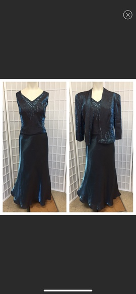 Queenly size 12 KM Collection by Milla Bell Blue Mermaid evening gown/formal dress