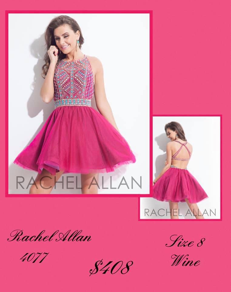 Queenly size 8 Rachel Allan Pink Cocktail evening gown/formal dress