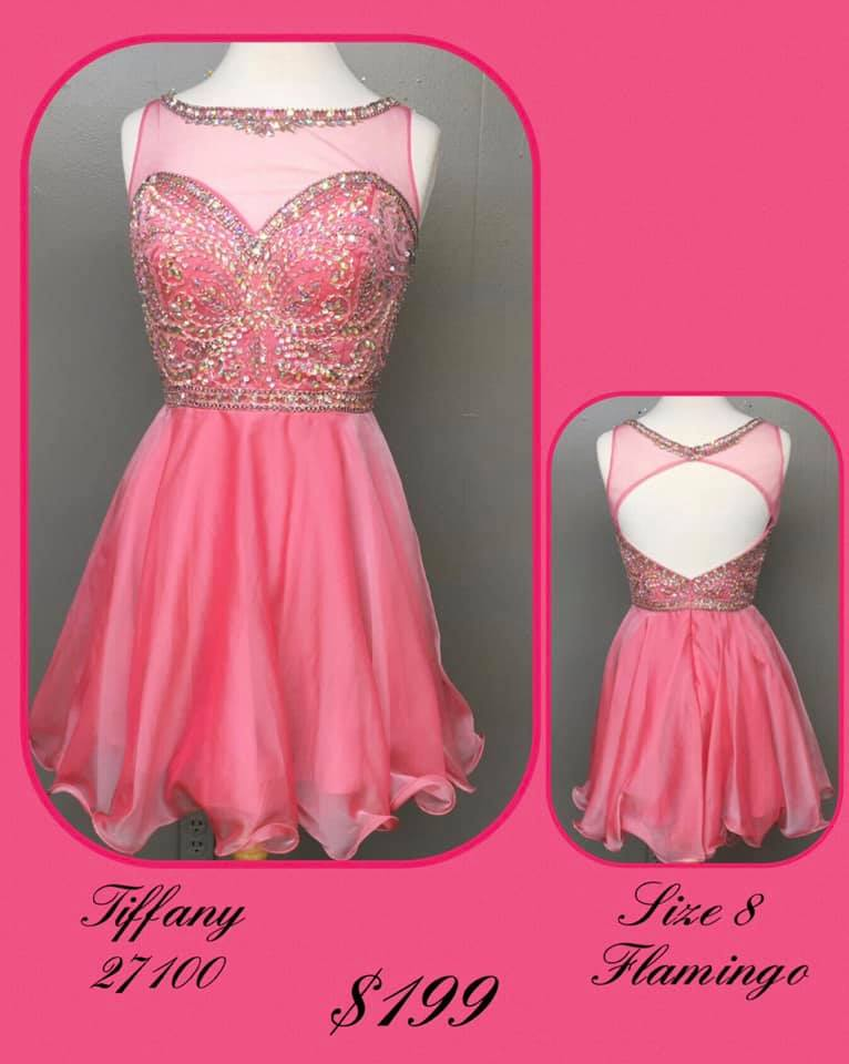 Queenly size 8 Tiffany Designs Pink Cocktail evening gown/formal dress