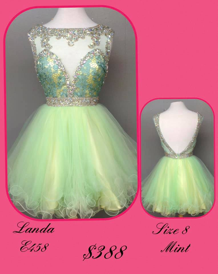 Queenly size 8 Landa Green Cocktail evening gown/formal dress