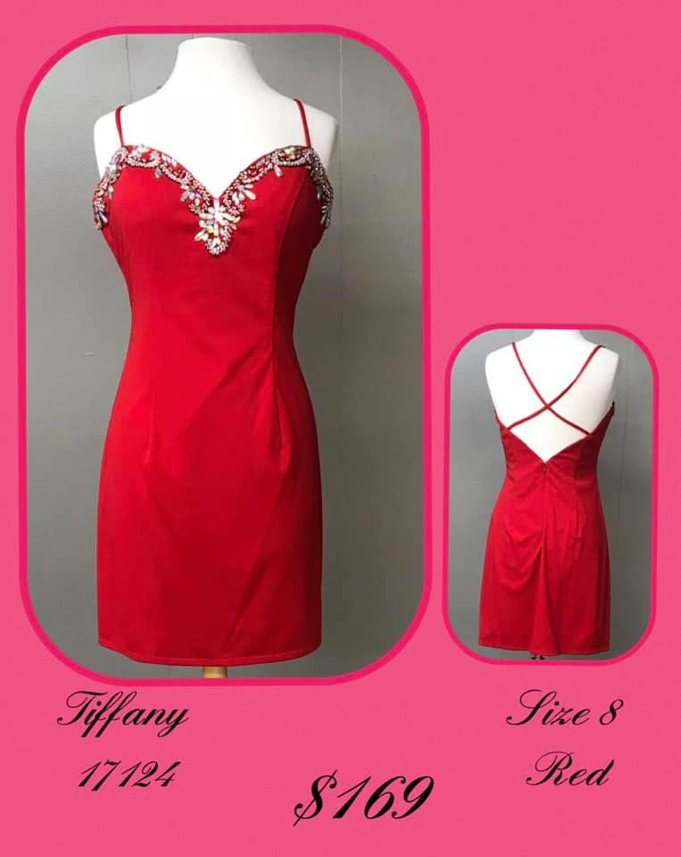 Tiffany Designs Red Size 8 Sweetheart Backless Cocktail Dress on Queenly