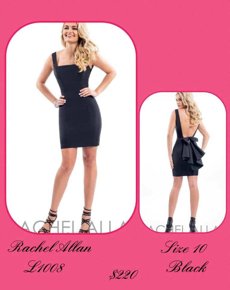 Rachel Allan Black Size 10 Backless Cocktail Dress on Queenly