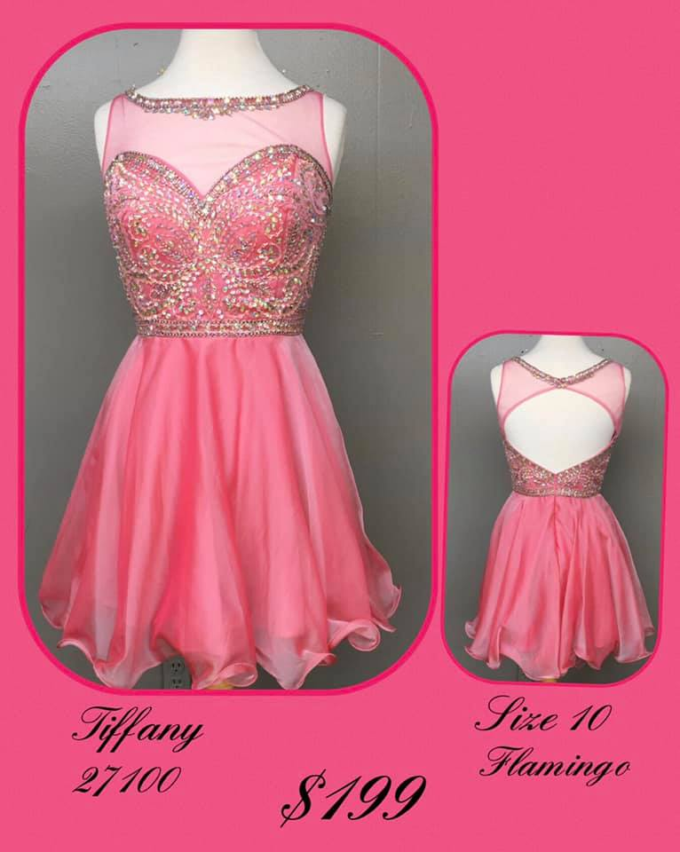 Queenly size 10 Tiffany Designs Pink Cocktail evening gown/formal dress