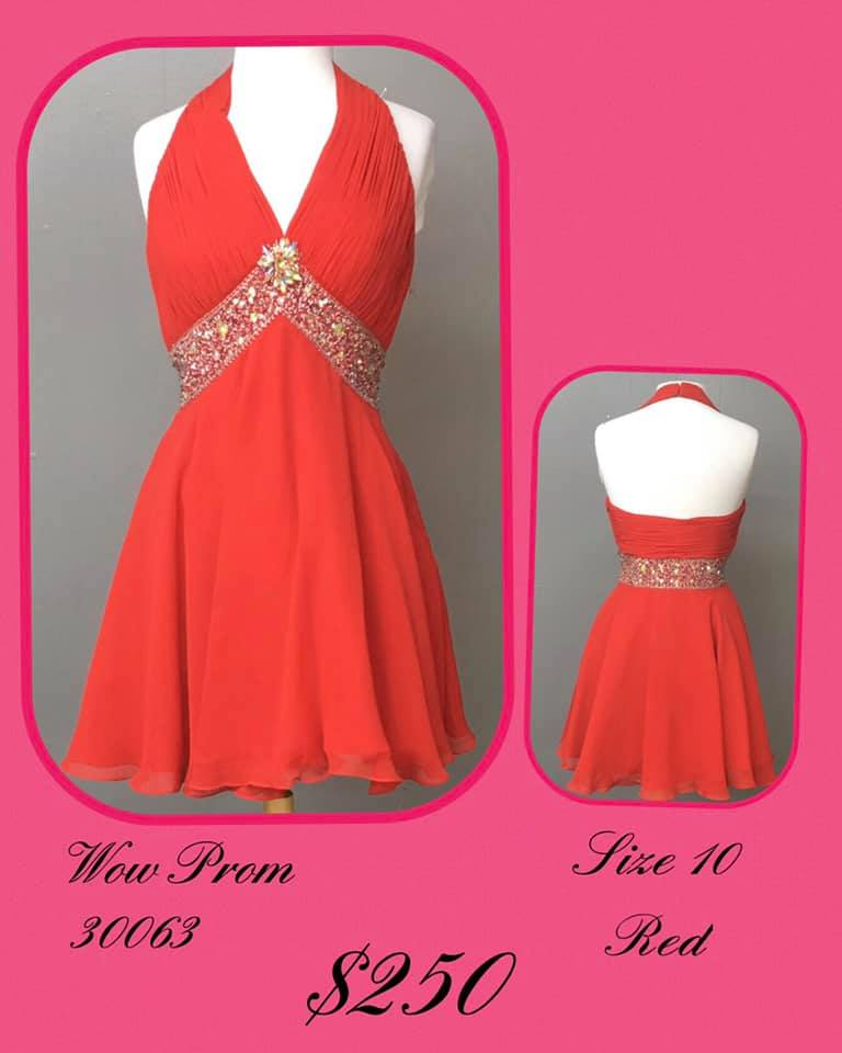 Queenly size 10 Wow Red Cocktail evening gown/formal dress