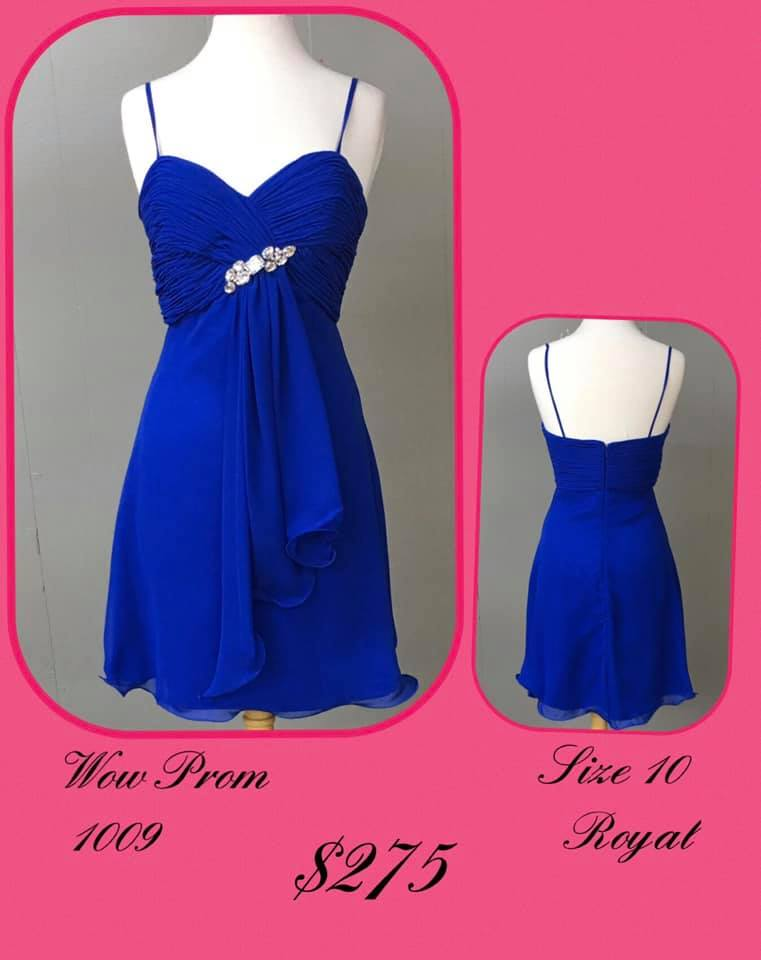 Queenly size 10 Wow Blue Cocktail evening gown/formal dress