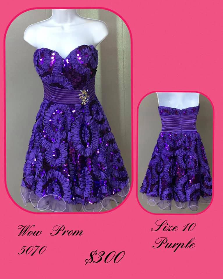 Queenly size 10 Wow Purple Cocktail evening gown/formal dress