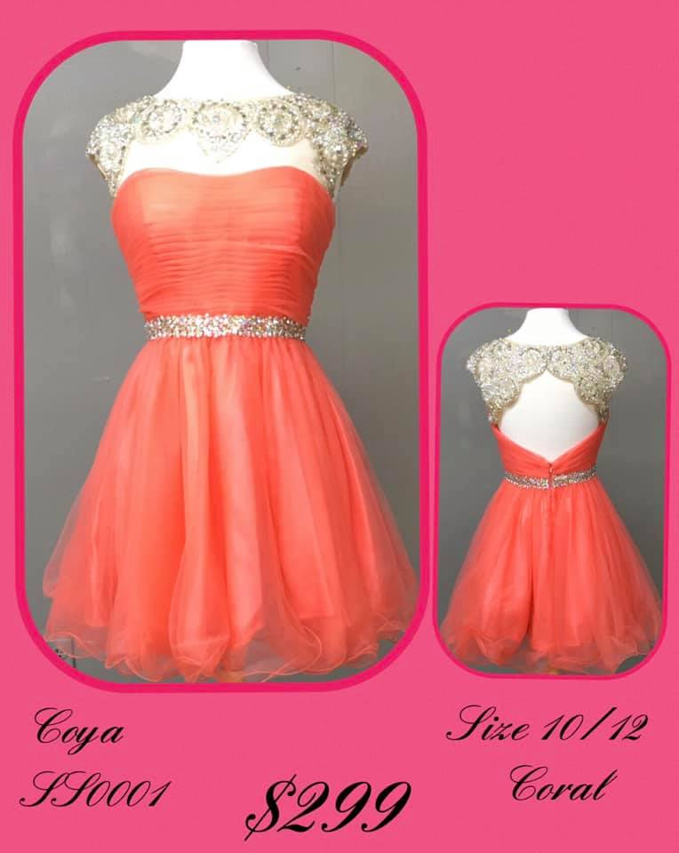 Queenly size 12 Coya Orange Cocktail evening gown/formal dress