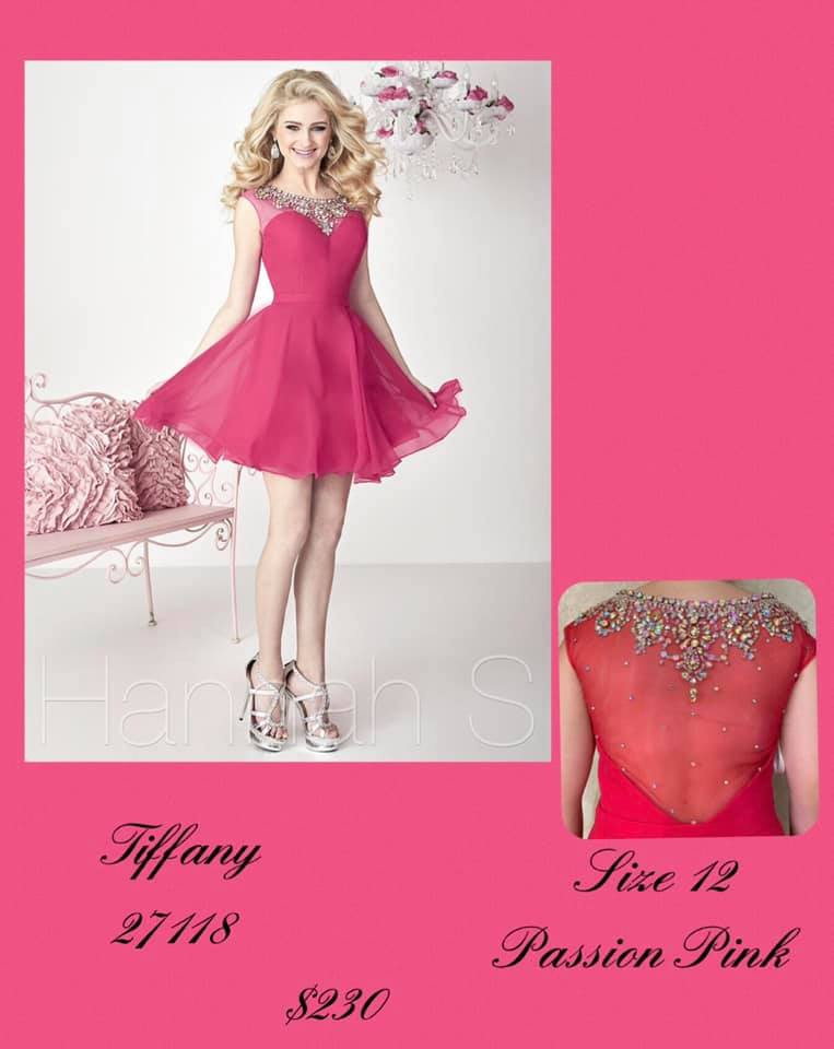 Queenly size 12 Tiffany Designs Pink Cocktail evening gown/formal dress