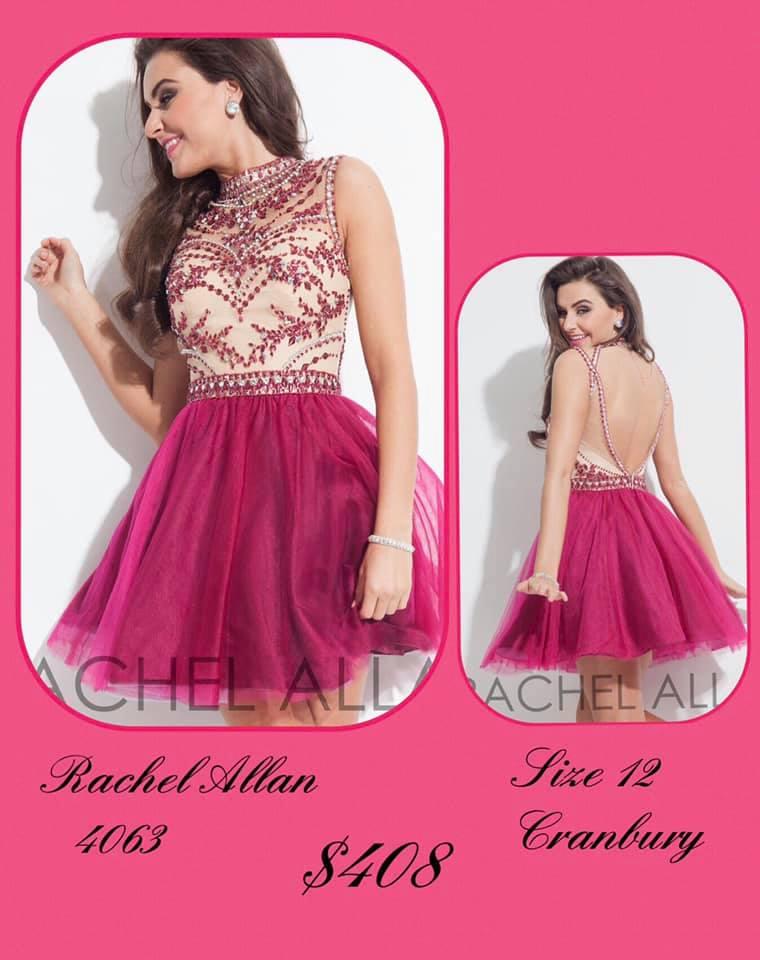 Queenly size 12 Rachel Allan Pink Cocktail evening gown/formal dress