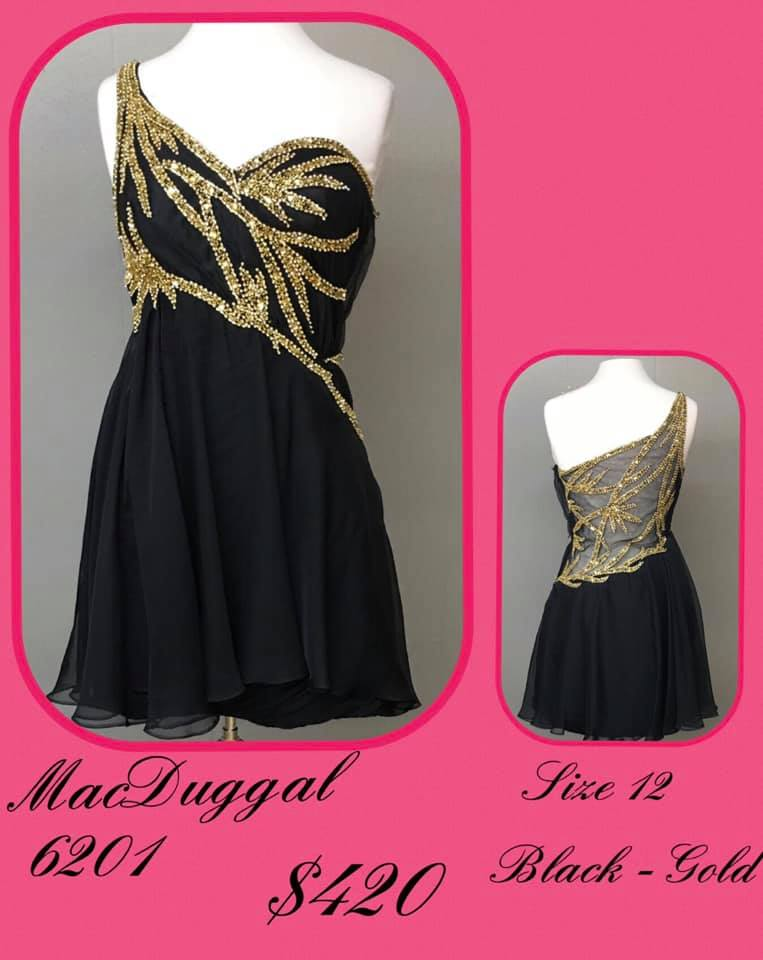 Queenly size 12 Mac Duggal Black Cocktail evening gown/formal dress