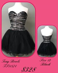 Queenly size 14 Tony Bowls Black Cocktail evening gown/formal dress