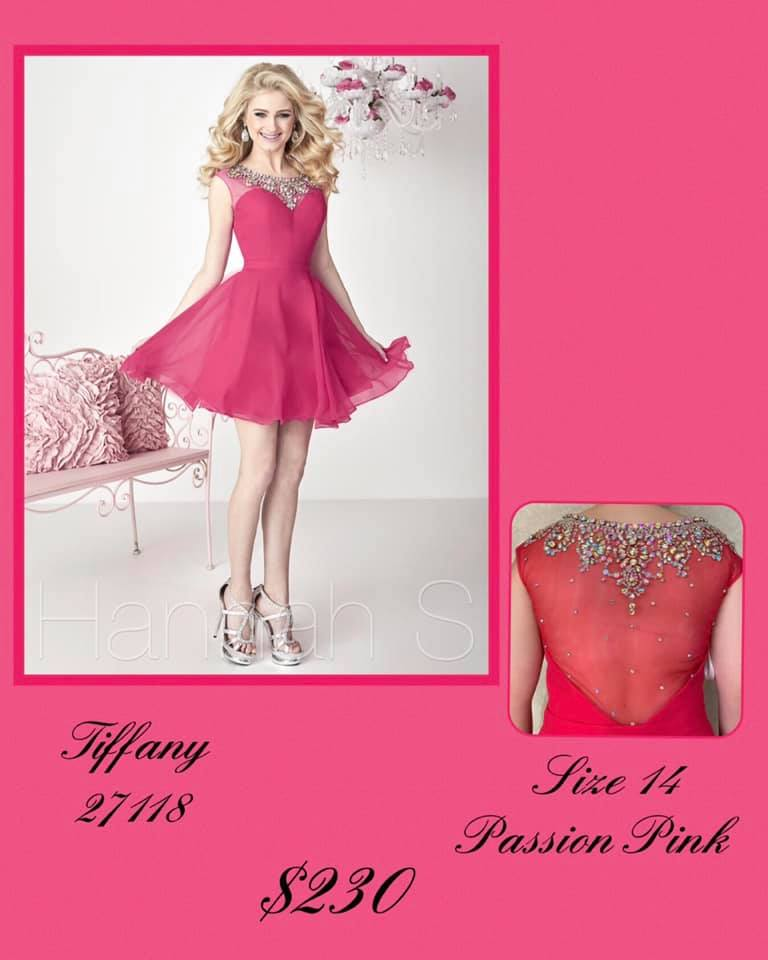 Queenly size 14 Tiffany Designs Pink Cocktail evening gown/formal dress