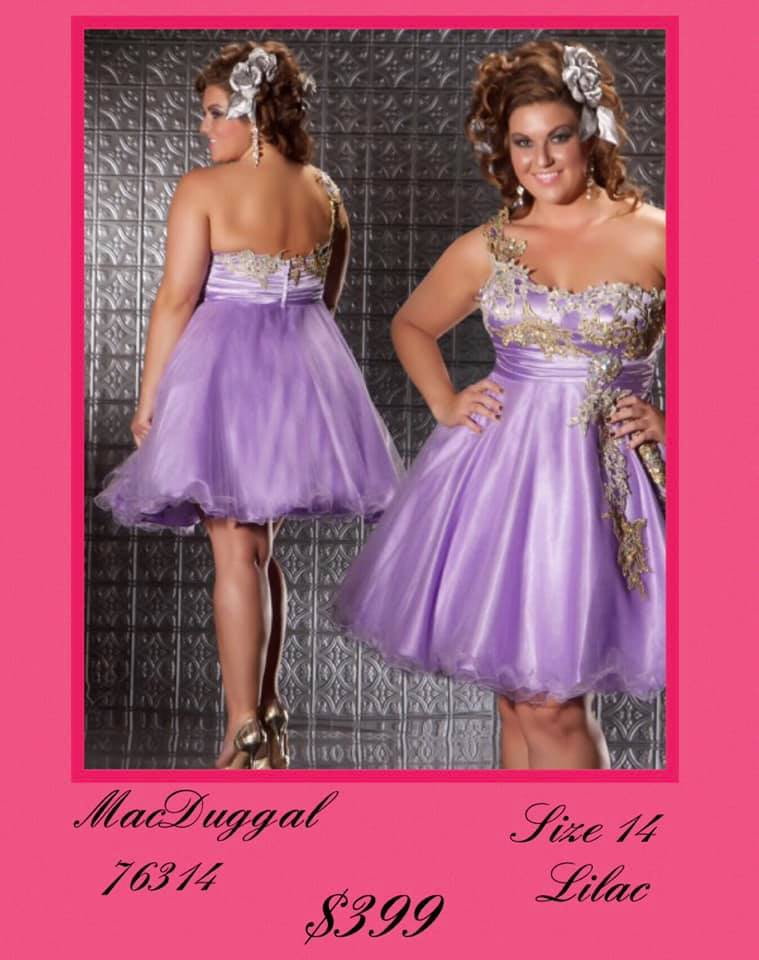 Queenly size 14 Mac Duggal Purple Cocktail evening gown/formal dress