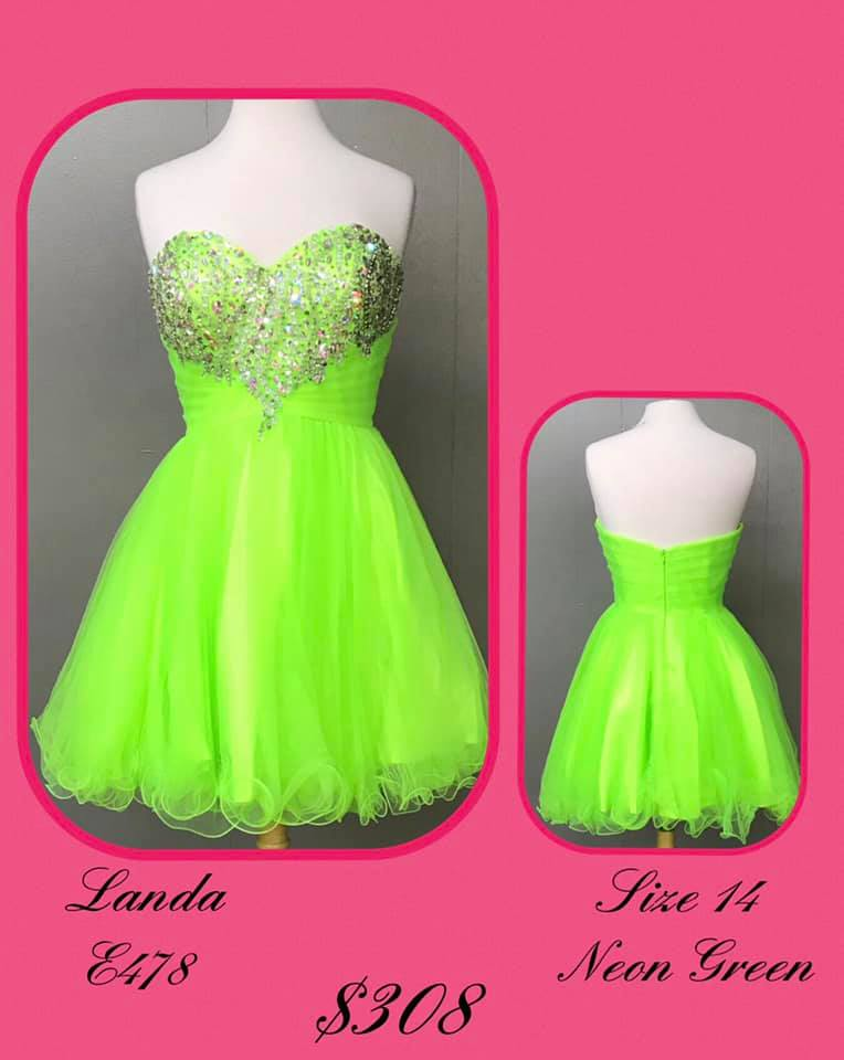 Queenly size 14 Landa Green Cocktail evening gown/formal dress