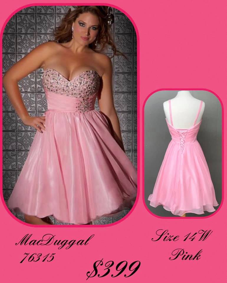Queenly size 14 Mac Duggal Pink Cocktail evening gown/formal dress