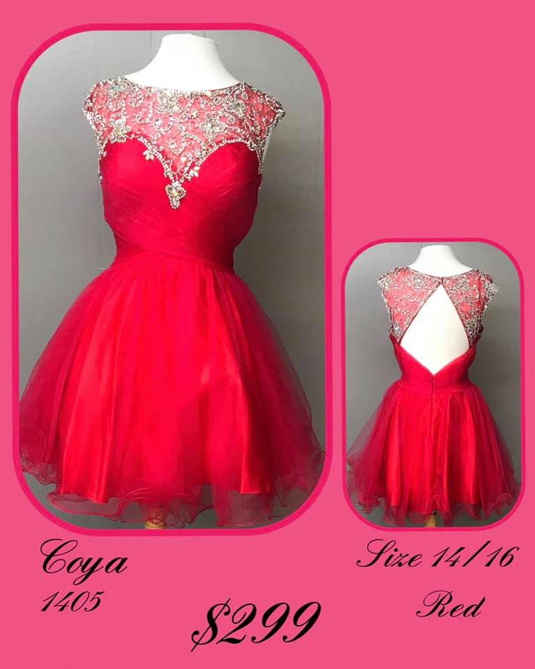 Queenly size 14 Coya Red Cocktail evening gown/formal dress